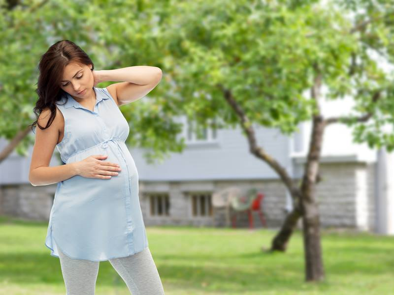 How to reduce neck pain during pregnancy