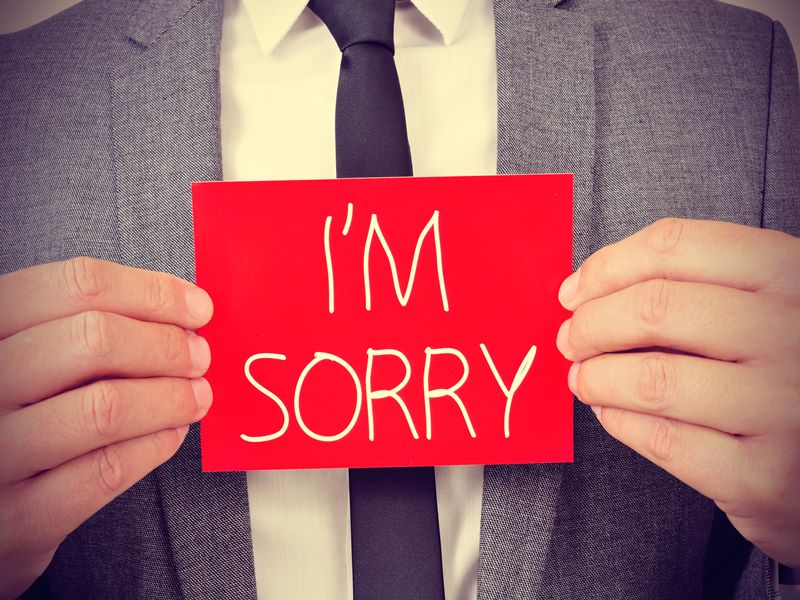 Apology is necessary to keep your relation healthy
