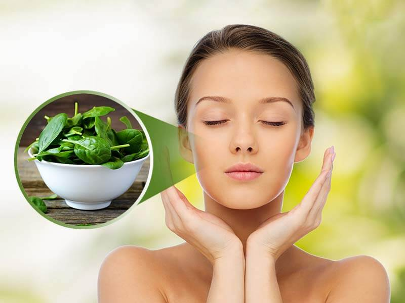 amazing beauty benefits of spinach