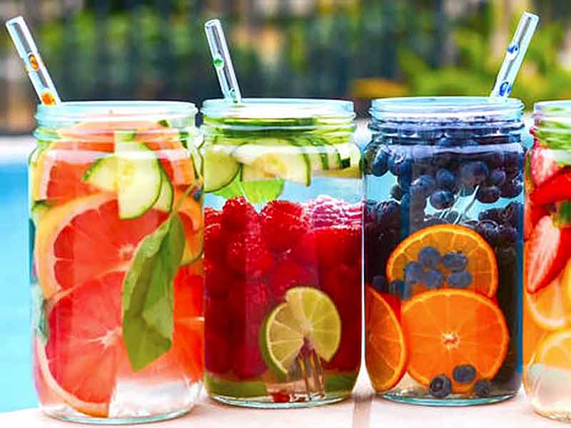 Amazing fruit infused waters for detoxification