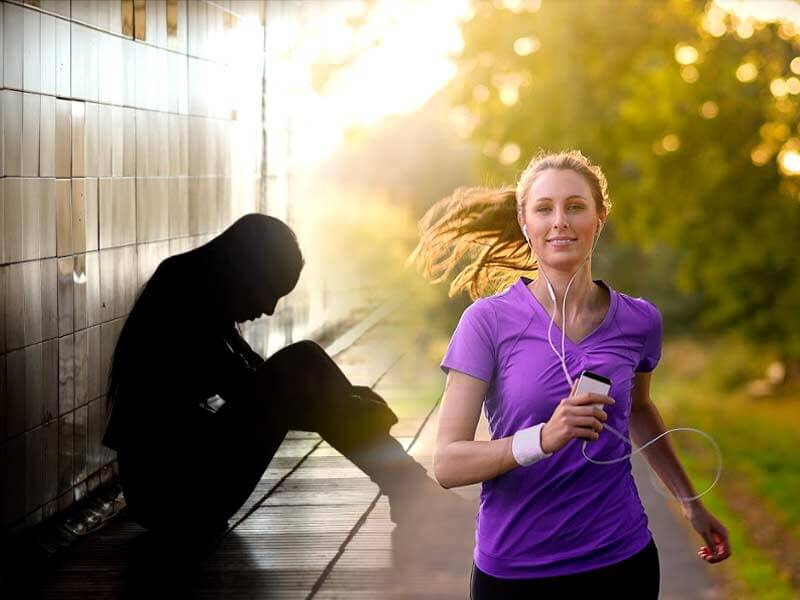 How jogging or running helps to fight depression