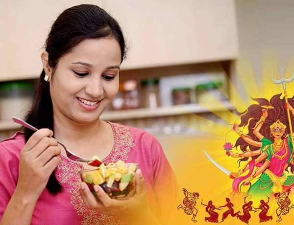 How does fasting during Navaratri help with self-discipline and control?