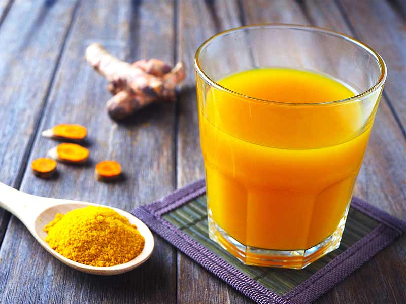 What are the various health benefits of turmeric juice