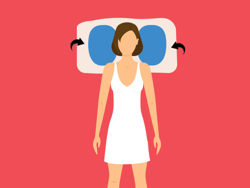 What are the different sleeping positions according to different health problems