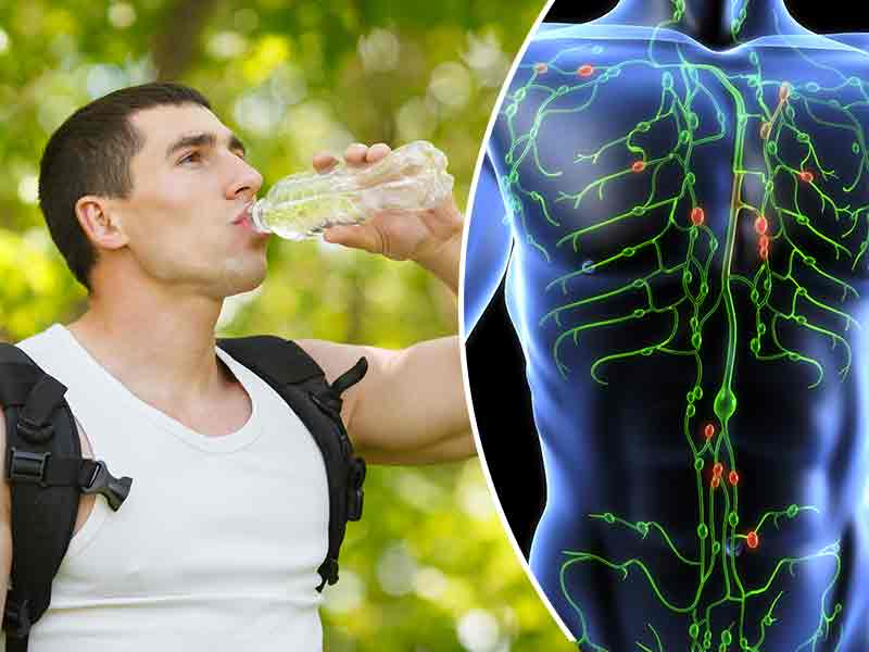 How to drain the lymphatic fluids from your body?