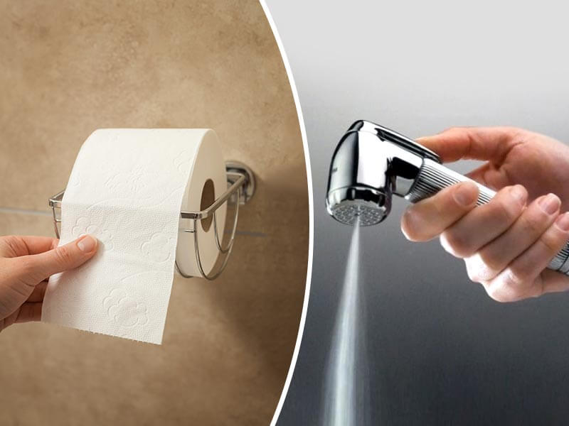 Why Cleaning Your Poop With Water Is Better Than Tissue Paper