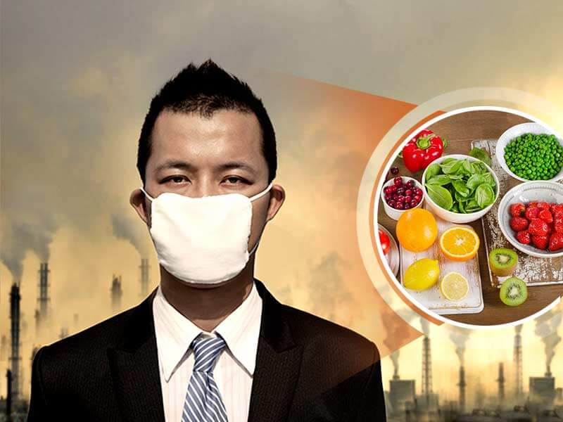 What should you eat during excess air pollution to protect yourself