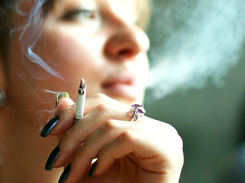 What are the side effects of smoking on women