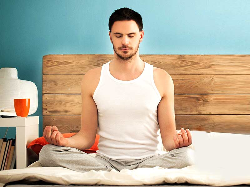 yoga poses you can practice on bed