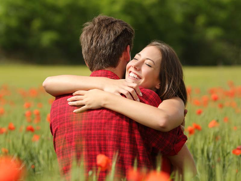 What are the different meanings of various types of hugs