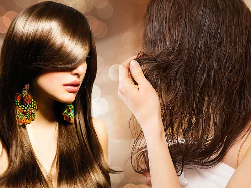 How to apply the hair serum correctly to have smoother hair