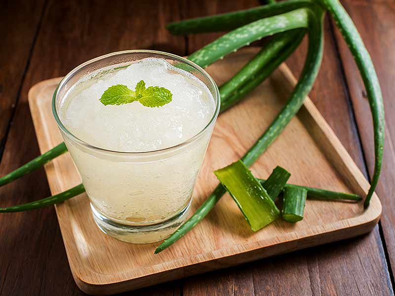 What are the various side effects of aloe vera juice