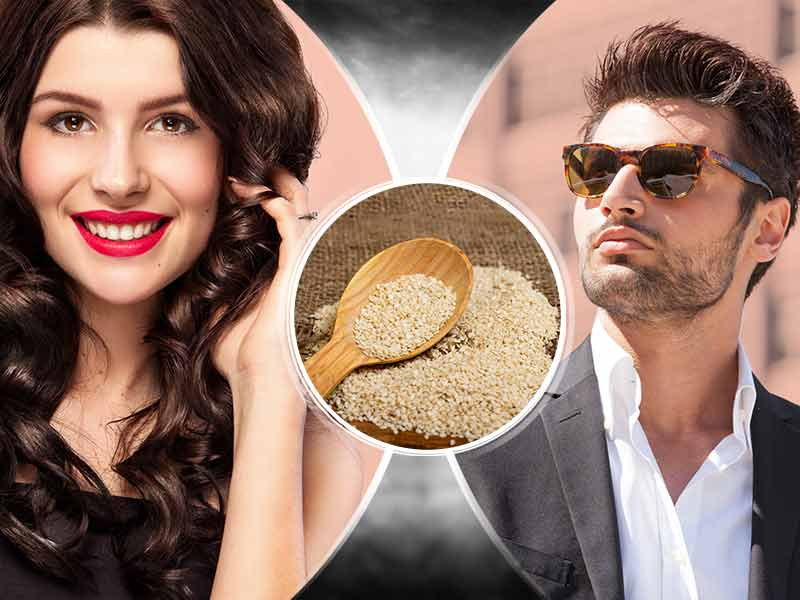 how sesame seed Is beneficial for healthy hair