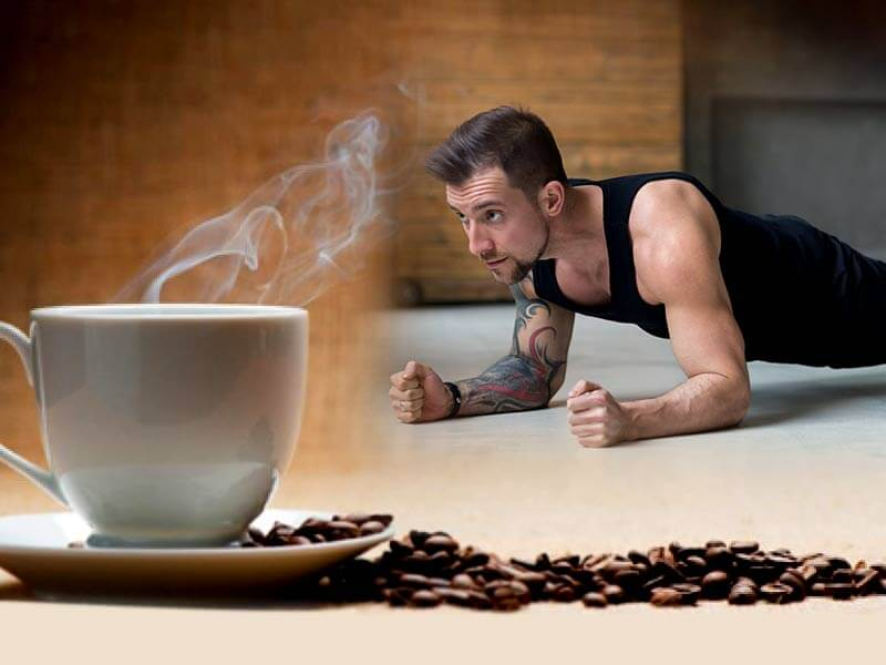 how the consumption of coffee before workout is beneficial for health