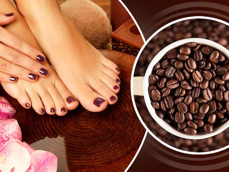 what are the benefits of rubbing coffee on hair and skin
