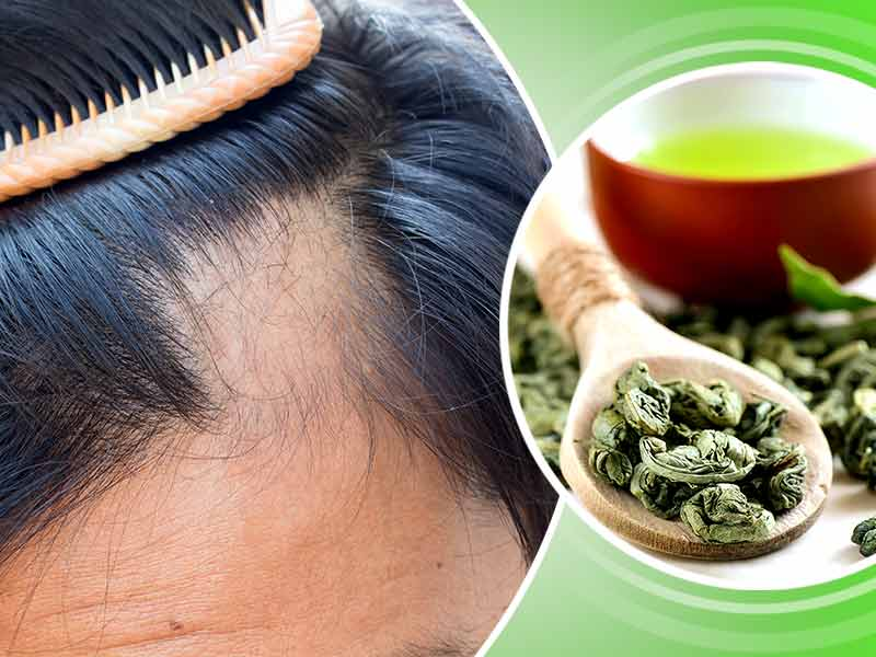 how and why to use green tea for hair loss