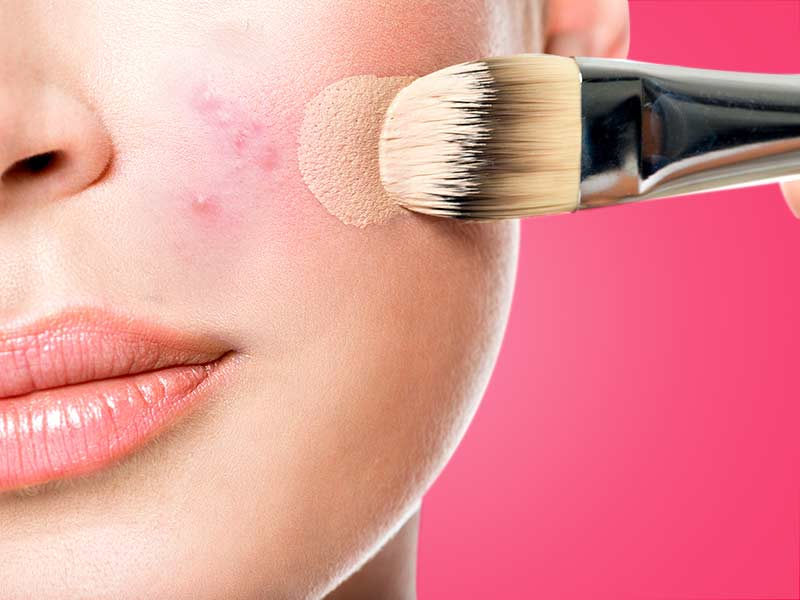 how to hide pimple with the help of makeup