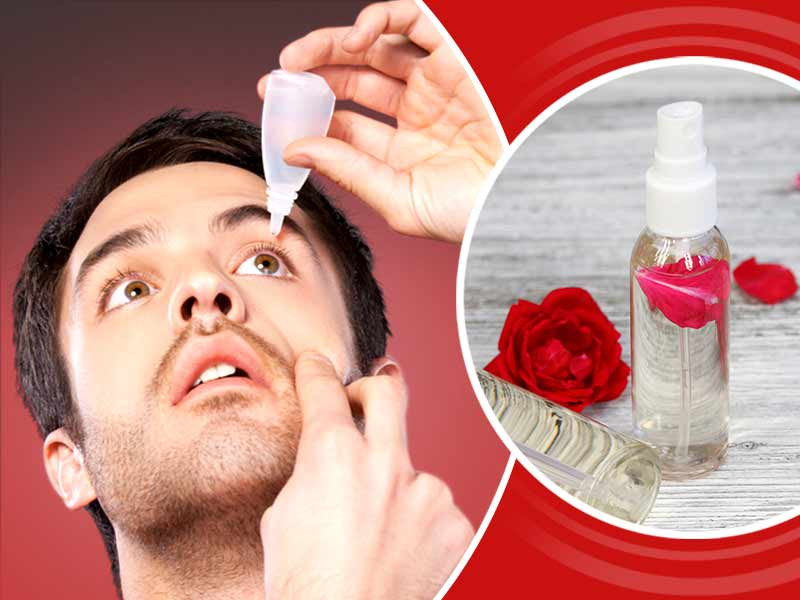 Amazing benefits of rosewater for eyes