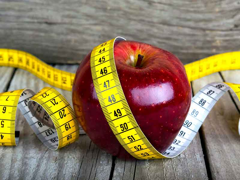 reduce weight help apple diet plan