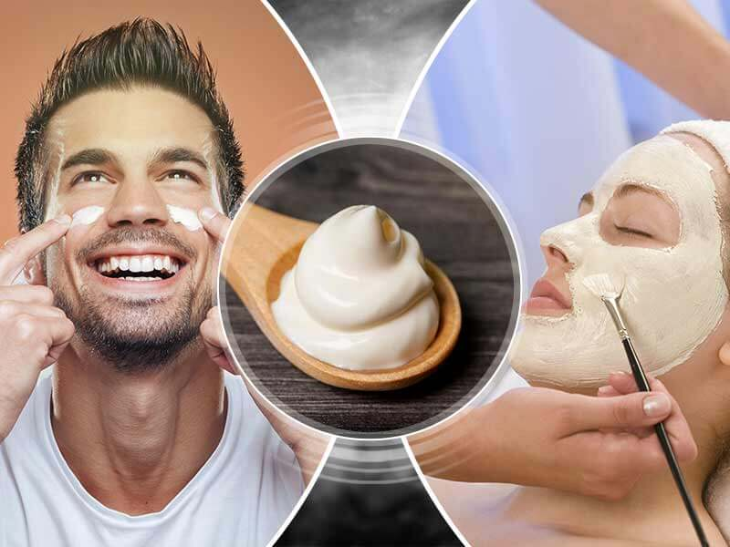 What are the benefits of malai or milk cream for the skin