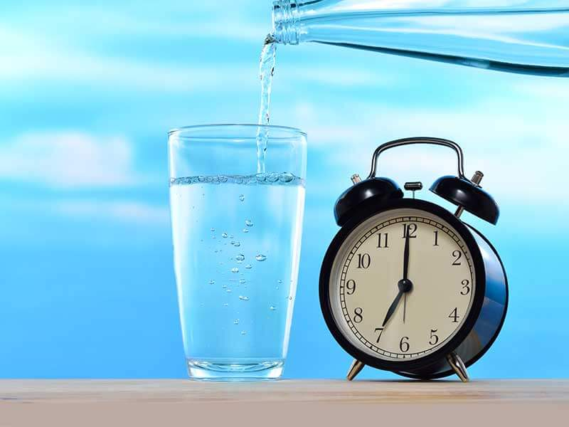 What is the right time to drink water