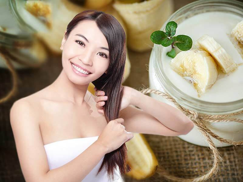 How to make milk and banana hair conditioner at home