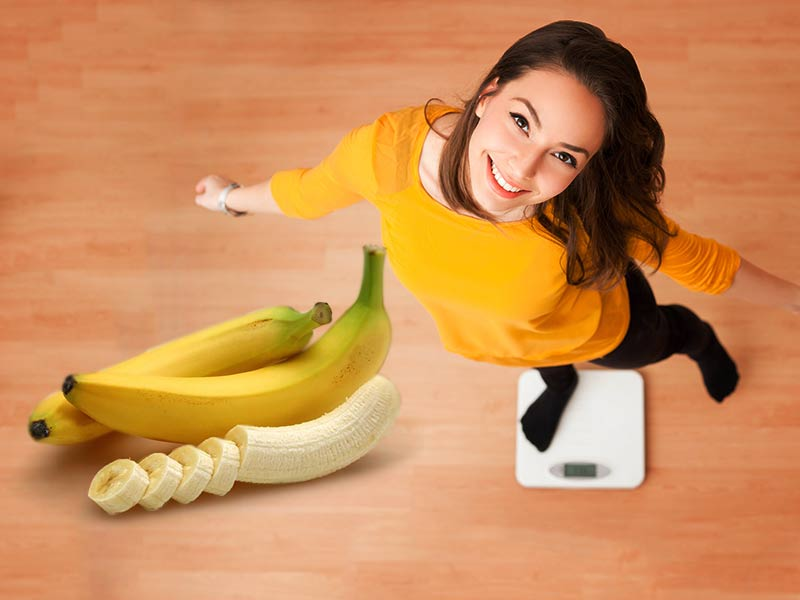 How is banana beneficial in gaining healthy weight