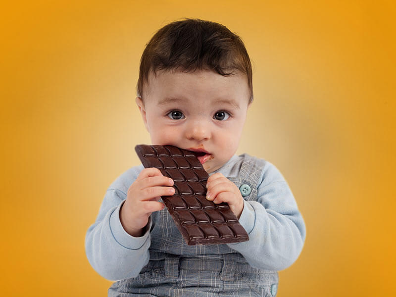 Chocolate for babies