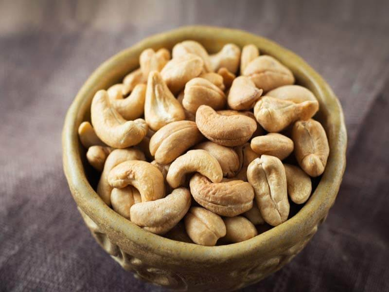 cashew nuts cause weight gain