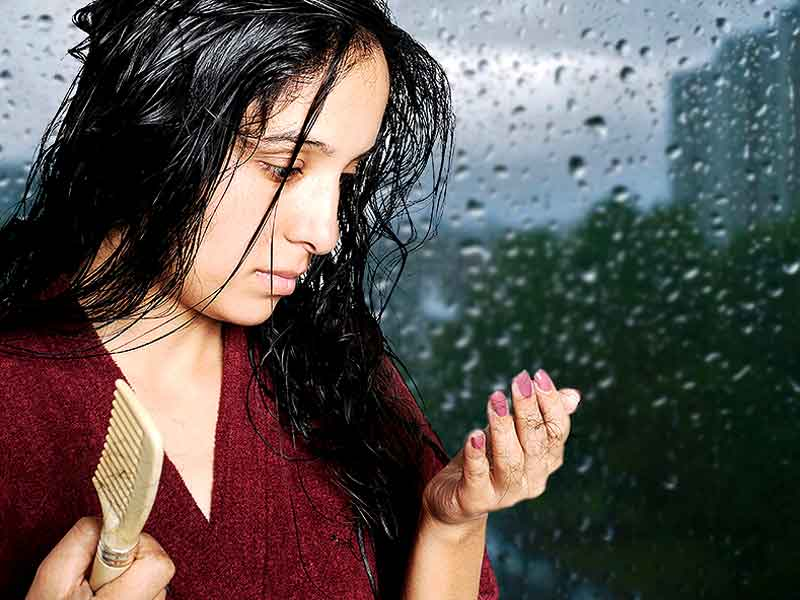 how to prevent hair fall during monsoon