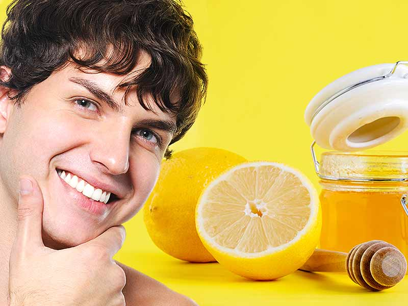 Honey and lemon mixture helps to get rid of acne