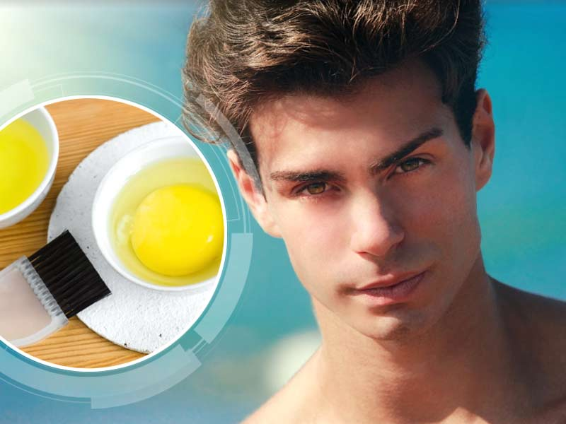 Egg mask to regrow hair on the scalp