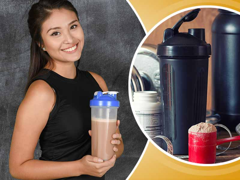 Protein shake intake before or after workout