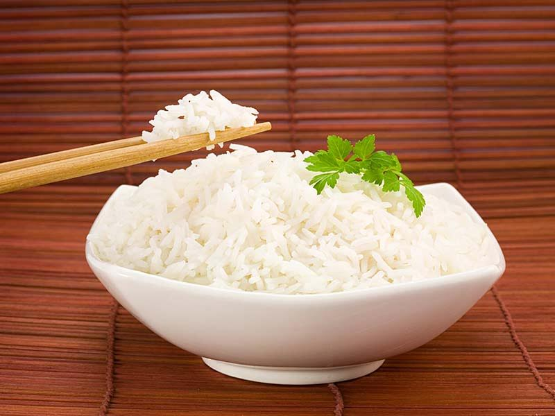 Rice helps to gain healthy food.