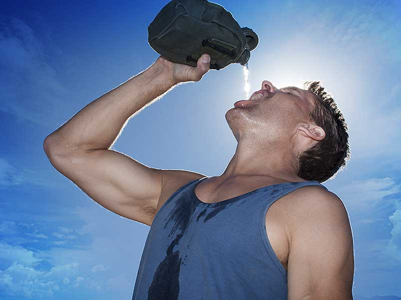 Dehydration can caused if you don't eat after workout
