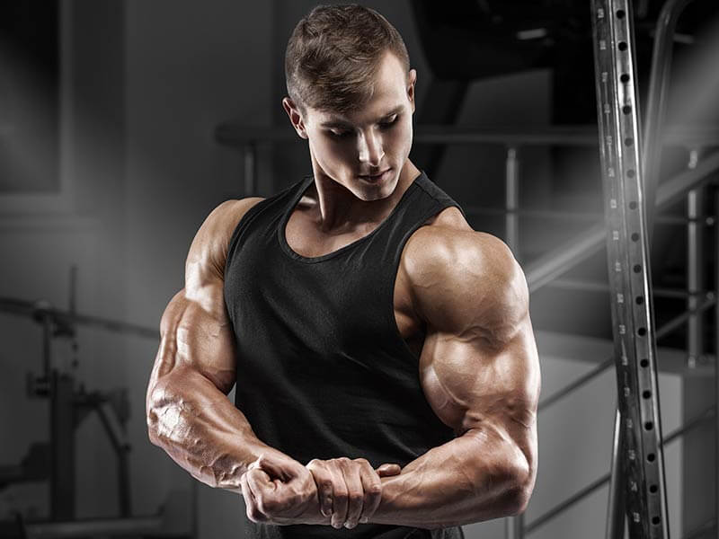 Get vascular biceps by reducing body fat