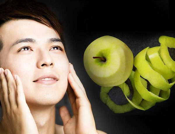Which fruit peels help to add shine and glow to the skin