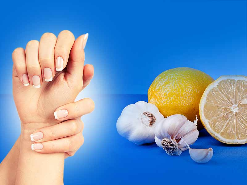 Lemon and garlic nails grow faster