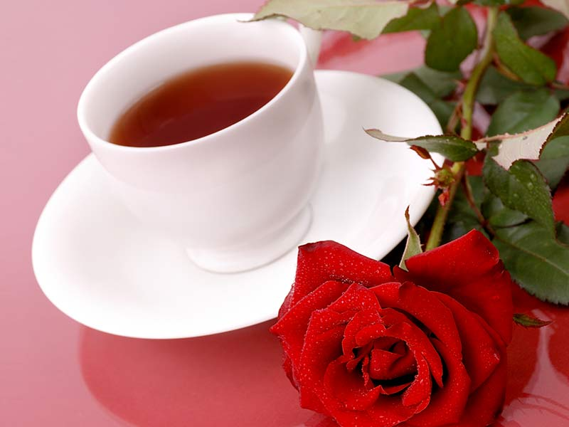 Lose weight with rose tea