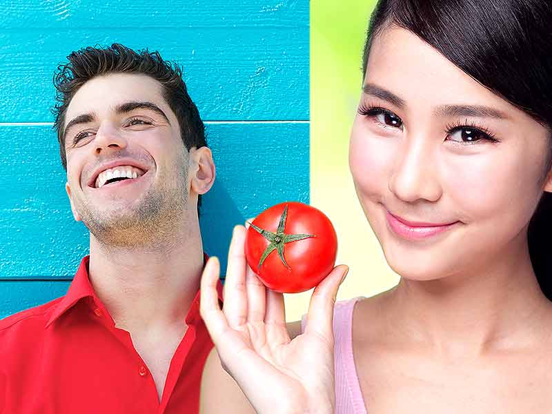 How tomato helps to get rid of red spots on the face