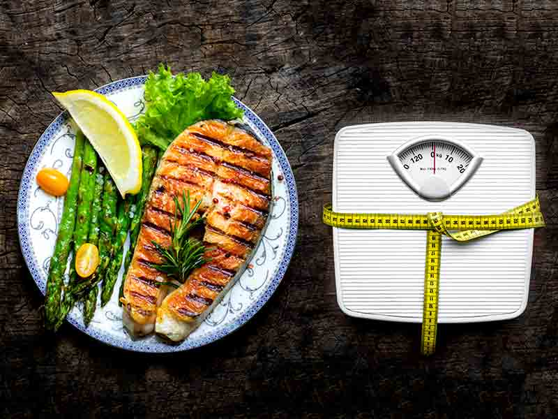 Lose weight by consuming fish