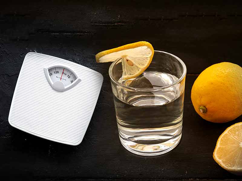 Cold Lemon water for weight loss