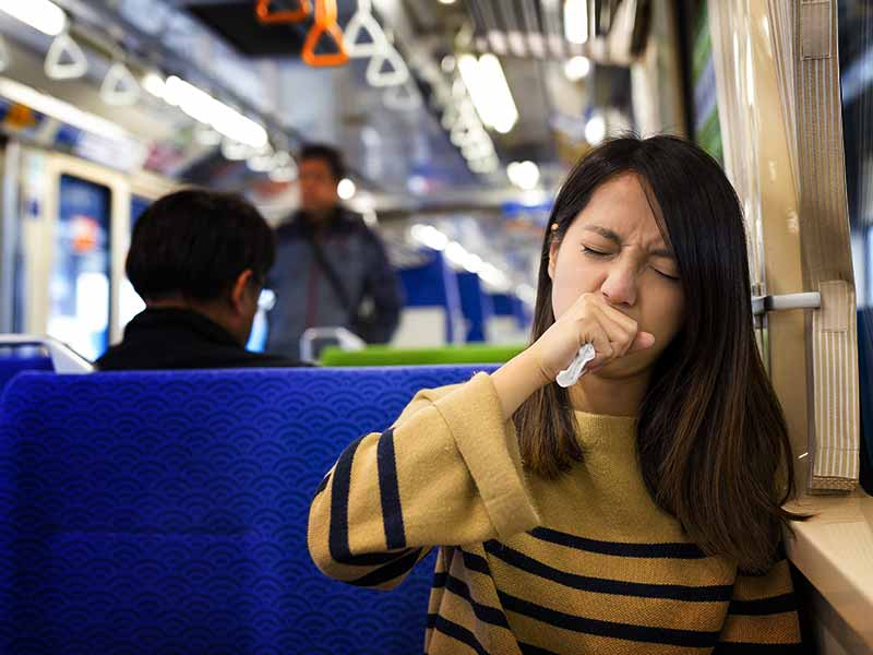 signs that you are falling ill or sick because of travelling